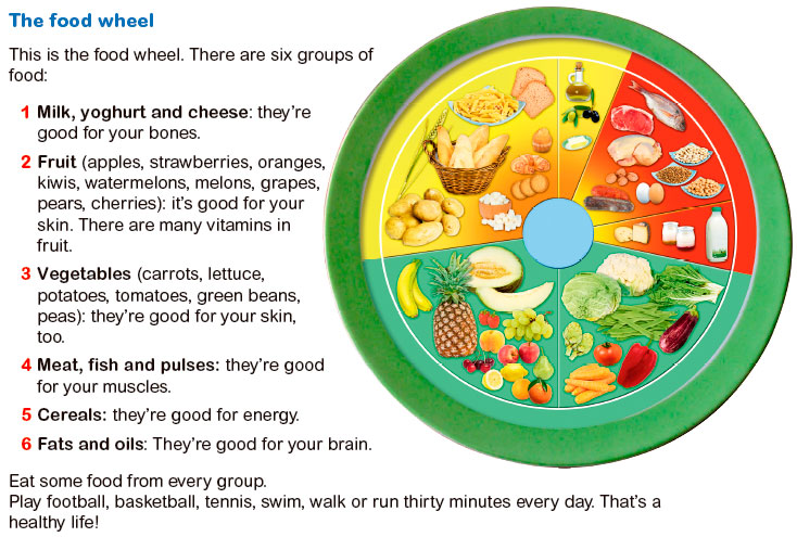 Wheel of food groups food ideas for Food wheel template